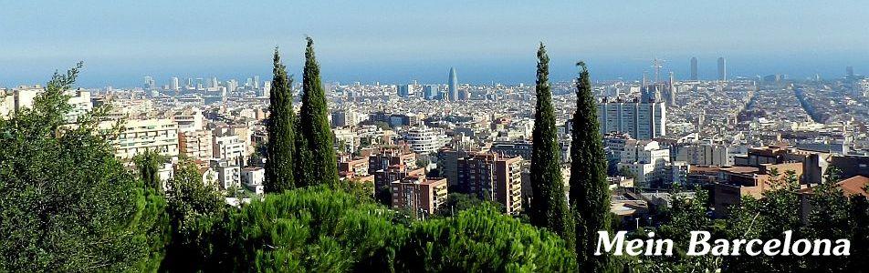 Barcelona vom Park Güell aus gesehen