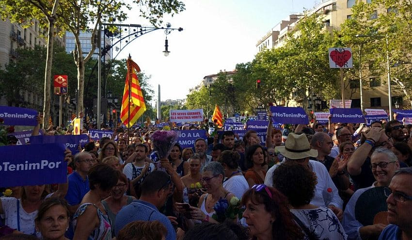 Demonstration - NO TINC POR - Barcelona
