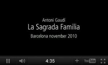 Youtube-Video, Sagrada Família in Barcelona 2010