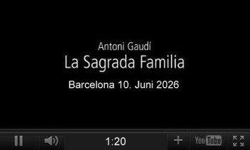 Youtube-Video, Sagrada Família in Barcelona 2026