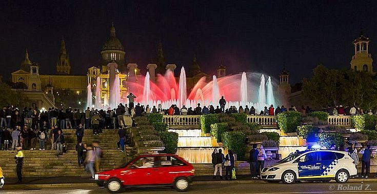 Brunnen Barcelona.Fuente Magica Die Wasserspiele In Barcelona